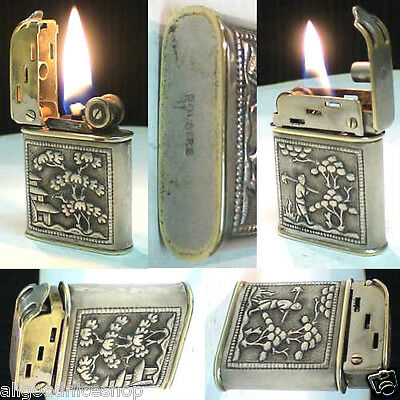 BRIQUET Ancien Polaire - RARE Indochine Argent Solid Silver LIGHTER Feuerzeug