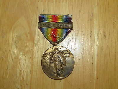 WW1 US Navy Victory Medal with bar Mobile Base nice