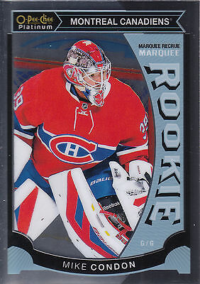 15/16 O-Pee-Chee Opc Platinum Rookie Rc #M32 Mike Condon Canadiens *29068