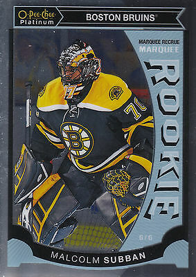 15/16 O-Pee-Chee Opc Platinum Rookie Rc #M5 Malcolm Subban Bruins *29061
