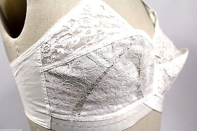 Vintage Pin-Up Bullet BRA Sweet Miss 1960s  Cups Style #10681 32D White  Sheer