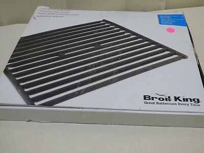2-PIECE Broil King 11222 Cast Iron Cooking Grid, For Crown T32 Gas Grills