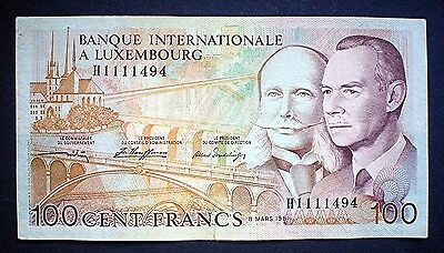 LUXEMBOURG ~ 100 FRANCS 1981 f+.