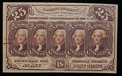 F-1281 25Ct. First Issue (Striaght Edge) Fractional Currency