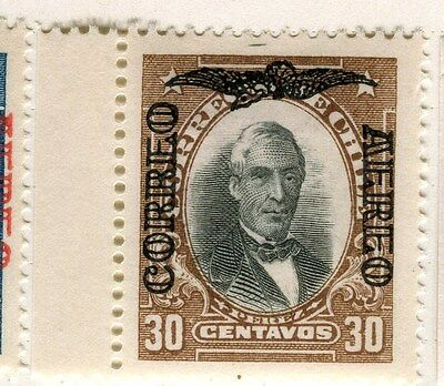 CHILE;  1928-9 early AIR Optd. issue fine Mint hinged Marginal 30c. value
