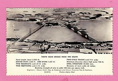 Dated 1964. Forth Bridge from the South,  Scotland