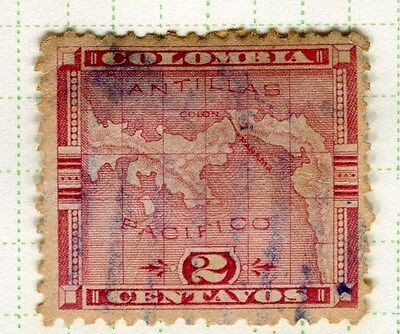 PANAMA;  1892 early classic issue fine used 2c. value