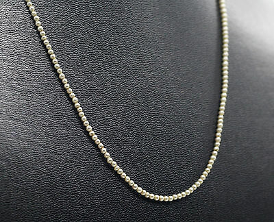 Victorian Antique SEED PEARL Necklace 9ct ROSE Gold Barrel Clasp 16inch Long