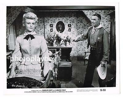 Randolph Scott Sexy Angela Lansbury Lawless Street Original Movie Photo #3 1955