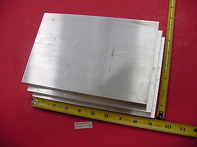 "3 Pieces 1/2"" X 6"" ALUMINUM 6061 FLAT BAR 9"" long Solid T6511 Plate Mill Stock"