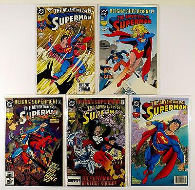 The Adventures Of Superman Dc Lot Of 5 Comics #490 502 503 504 505 (Vf/nm)
