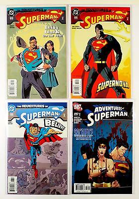 The Adventures Of Superman Dc Lot Of 4 Comics #619 620 623 643 (Vf/nm)