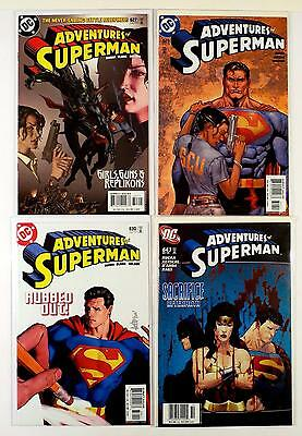 The Adventures Of Superman Dc Lot Of 4 Comics #627 629 630 643 (Vf/nm)