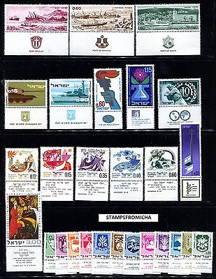 Israel 1969 Complete Year Set of Mint Never Hinged Stamps Full Tabs x123456