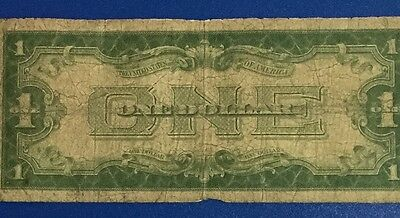 """1928A $1 Blue """"FUNNY BACK"""" SILVER Certificate X617 Old US Paper Currency!"""