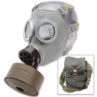 NBC Gas Mask - Polish MC-1 Full Face Military & Police w/Filter and Bag Unissued