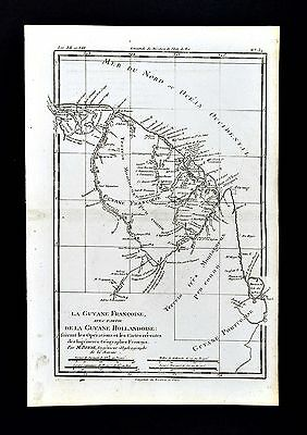 1779 Bonne Map  French & Dutch Guiana Guyane Amapa Brazil Suriname South America