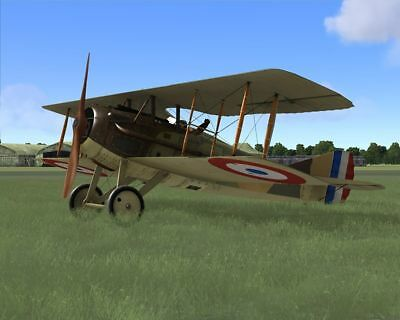 1/7 Scale French WW-I SPAD S.VII Biplane Plans,Templates, & Instructions