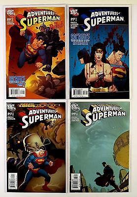 The Adventures Of Superman Dc Lot Of 4 Comics #642 643 645 646 (Vf/nm)