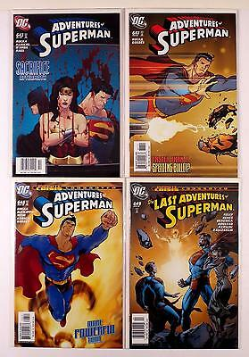The Adventures Of Superman Dc Lot Of 4 Comics #643 647 648 649 (Vf/nm)