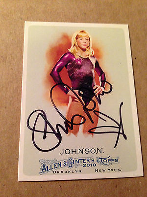 Shawn Johnson SIGNED 2010 TOPPS ALLEN & GINTER card GYMNASTICS / OLYMPIC GOLD