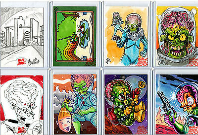 Mars Attacks! Occupation - Sketch Autograph Plate Metal Card Selection NM Topps