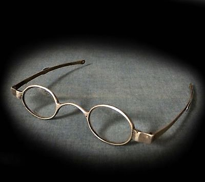 WONDERFUL RARE PAIR of GEORGIAN HALL-MARKED SILVER SPECTACLES - 1813 / 33