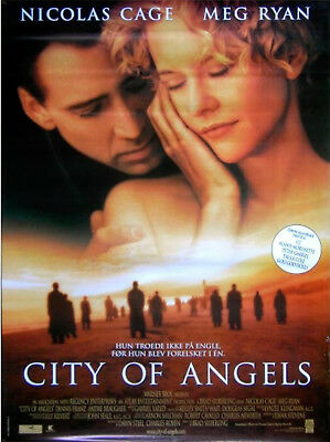 CITY OF ANGELS 1998  Nicolas Cage, Meg Ryan, Andre Braugher DANISH POSTER