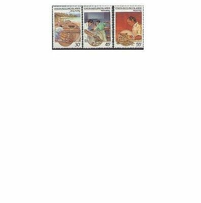Cocos Islands 1985 CULTURE (3), Unhinged Mint SG 126-8