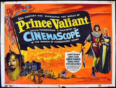 PRINCE VALIANT 1954 James Mason, Janet Leigh, Robert Wagner  UK QUAD POSTER