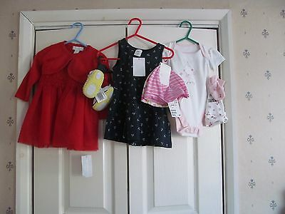 Baby Girls Clothes Bundle Age 3 - 6 Months H&m George Matalan (Lot 6)