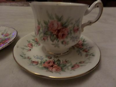 "Royal Standard  Cup And 2  Saucers Fine Bone China "" Rambling Rose"""