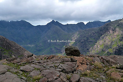 Glacial Erratic Skye Cuillin Photograph Mounted Print 10 colours Greetings Cards