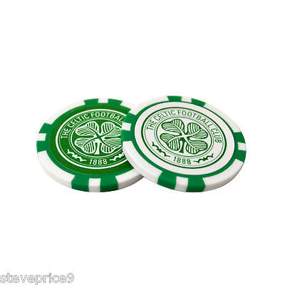 Celtic Fc 2 Poker Chip Golf Ball Markers In Gift Set