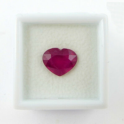 3.45 ct. Top Pink Rotes 10.9 x 8.9 mm Mosambik Rubin Herz