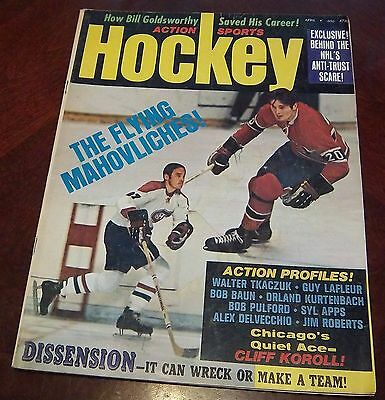 Action Sports Hockey Frank and Peter Mahovlich April 1972
