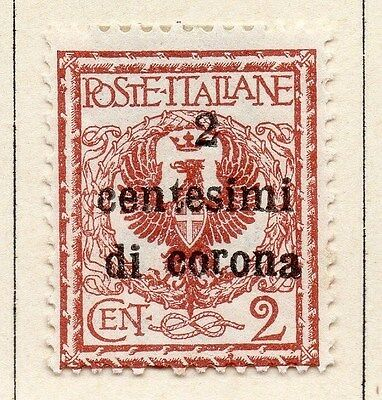 Italy Austrian Occupation 1919-22 Fine Mint Hinged 2c. Surcharged 043717