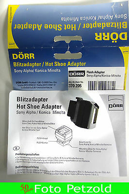 Dörr  Blitzadapter Hot Shoe  Sony Alpha  Flash Adapter Minolta AF