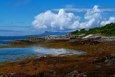 Isle of Eigg Arisaig Cloudscape Photo Mounted Print 10 colours Greetings Cards
