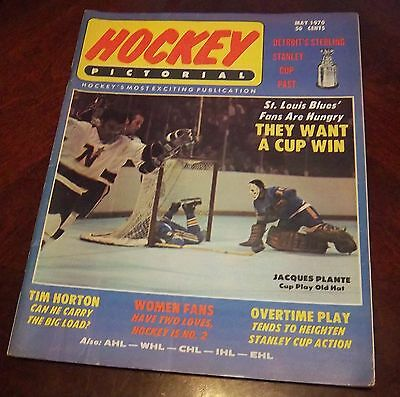 Hockey Pictorial May 1970 Jacques Plante