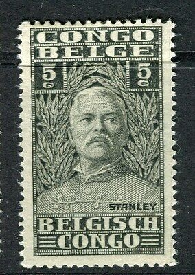 BELGIUM CONGO;  1928 early H.M.Stanley issue Mint hinged 5c. value