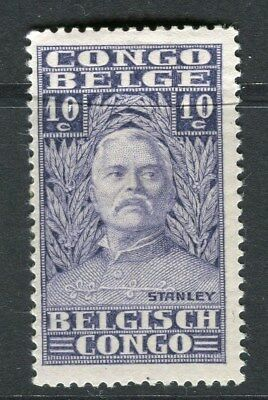BELGIUM CONGO;  1928 early H.M.Stanley issue Mint hinged 10c. value