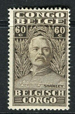 BELGIUM CONGO;  1928 early H.M.Stanley issue Mint hinged 60c. value