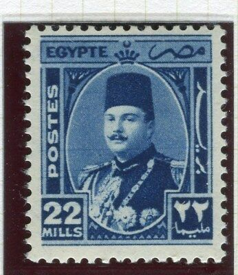 EGYPT;  1944 -51  early King Farouk issue fine Mint hinged 22m. value