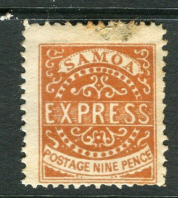 SAMOA;  1877 early classic issue P 12.5 Mint unused 9d. value , stain at top