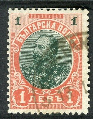 BULGARIA;  1901 early Ferdinand issue fine used 1L. value