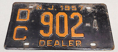 1957 New Jersey dealer license plate