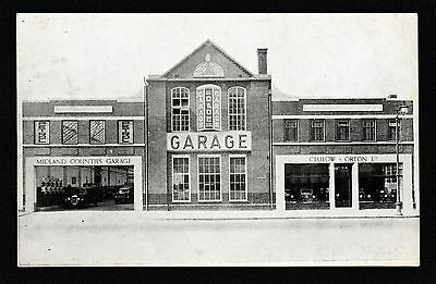 Clulow and Orton Ltd Midland Counties Garage Leicester Motoring Cars Postcard
