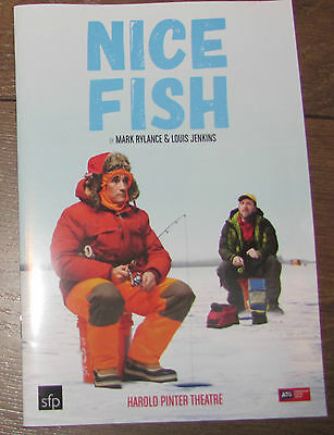 Nice Fish London Theatre Programme Signed By The Cast Mark Rylance Oscar