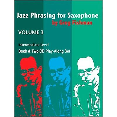 Jamey Aebersold Jazz Phrasing For Saxophone Vol.3 Book/CDs
